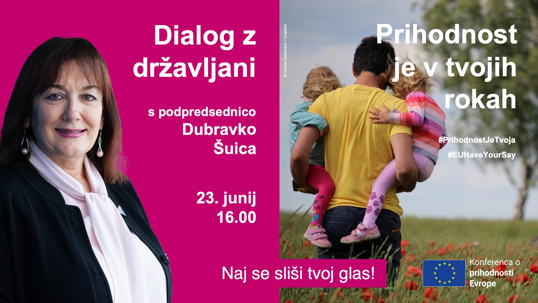 Dialog z državljani - podpredsednica Šuica
